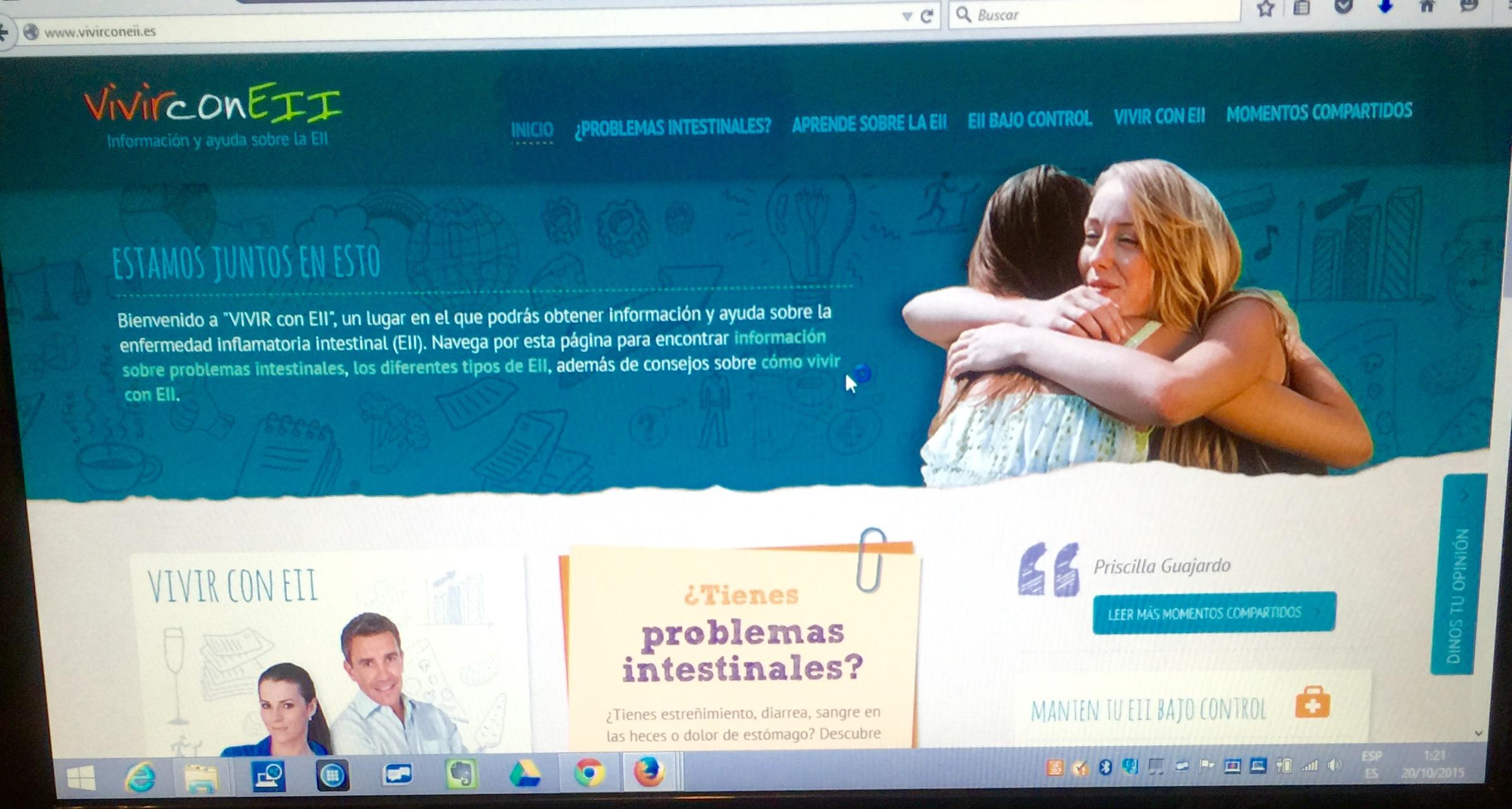 Web EII Colitis Ulcerosa y Crohn Saludentuvida.com